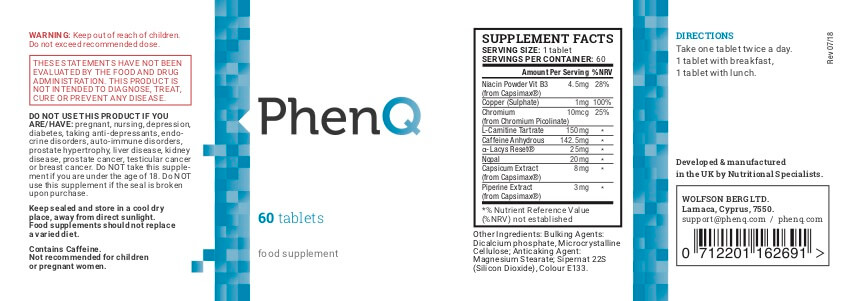 phenq produt label