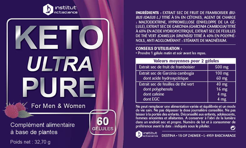 ingredients label keto ultra pure